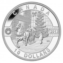 2013 Canada Fine Silver $10 Coin - O Canada Series: Holiday Season