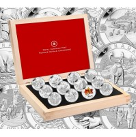 2013 Canada Fine Silver 10 Dollar Coin Set - O Canada Series, with Display Case