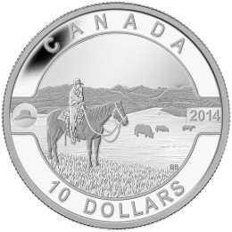 2014 Canadian $10 O Canada Series: The Canadian Cowboy - 1/2 oz Fine Silver Coin