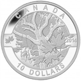 2014 Canadian $10 O Canada Series: Down by the Old Maple Tree - 1/2 oz Fine Silver Coin