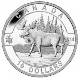 2014 Canadian $10 O Canada Series: The Moose - 1/2 oz Fine Silver Coin