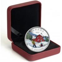 2015 Fine Silver 10 Dollar Coin - Winter Scene