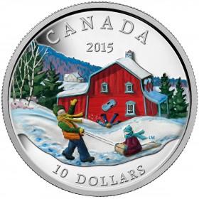 2015 Canada Fine Silver $10 Coin - Winter Scene