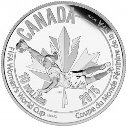 2015 Canadian $10 FIFA Women's World Cup: The Goalie - 1/2 oz Fine Silver Coin