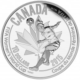 2015 Canadian $10 FIFA Women's World Cup: Heading the Ball - 1/2 oz Fine Silver Coin