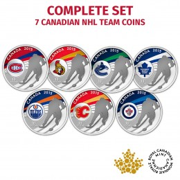 2015 Canadian $10 NHL Teams - Fine Silver 7-Coin Set