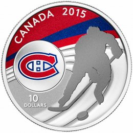 2015 Canadian $10 Canadian Hockey: Montreal Canadiens - 1/2 oz Fine Silver Coin