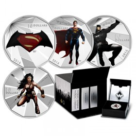 2016 Canada FIne Silver $10 4-Coin Set - Batman v Superman: Dawn of Justice™ with Display Box