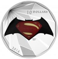 2016 Fine Silver 10 Dollar Coin - Batman v Superman: Dawn of Justice™ - Logo
