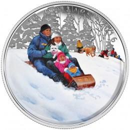 2016 Canadian $10 Winter Fun - 1/2 oz Fine Silver Coin