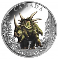 2016 Fine Silver 10 Dollar Coin - Day of the Dinosaurs: The Spiked Lizard