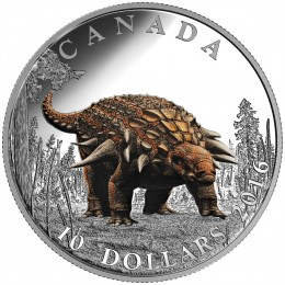 2016 Canadian $10 Day of the Dinosaurs: The Armoured Tank - 1/2 oz Fine Silver Coin-no outer box