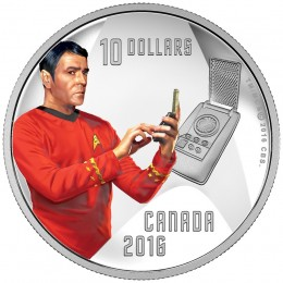 2016 Canadian $10 Star Trek™ Crew: Scotty 1/2 oz Fine Silver Coin