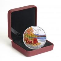 2017 Canada Fine Silver 10 Dollar Coin - Iconic Canada: Autumn's Palette