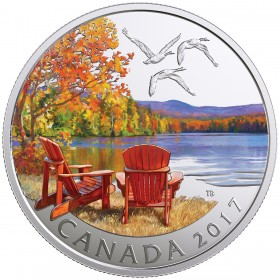 2017 Canadian $10 Iconic Canada: Autumn's Palette - 1/2 oz Fine Silver Coin