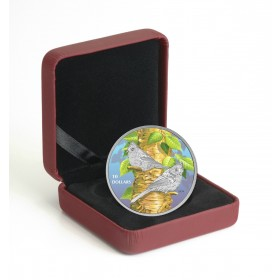 2017 Fine Silver 10 Dollar Coin - Birds Among Nature's Colours: Tufted Titmouse