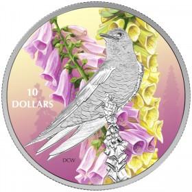 2017 Canada Fine Silver $10 Coin - Birds Among Nature's Colours: Purple Martin