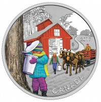 2017 Fine Silver 10 Dollar Coin - Iconic Canada: Sugar Shack