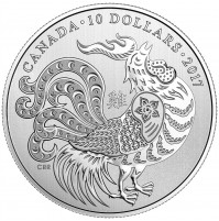 2017 Fine Silver 10 Dollar Coin - Year of the Rooster