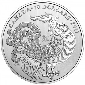 2017 Canadian $10 Year of the Rooster - 1/2 oz Fine Silver Coin