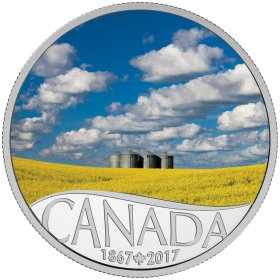 2017 Canadian $10 Celebrating Canada's 150th: Canola Field - 1/2 oz Fine Silver Coin