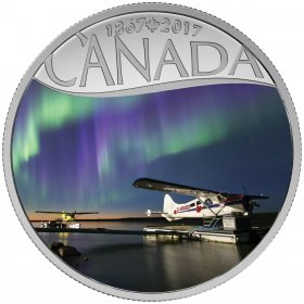 2017 Canadian $10 Celebrating Canada's 150th: Float Planes on the Mackenzie River - 1/2 oz Fine Silver Coin