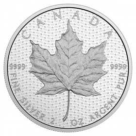 2017 Canadian $10 Celebrating Canada's 150th: Iconic Maple Leaf - 2 oz Fine Silver Coin