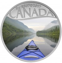 2017 Fine Silver 10 Dollar Coin - Celebrating Canada's 150th: Kayaking on the River