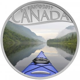 2017 Canadian $10 Celebrating Canada's 150th: Kayaking on the River - 1/2 oz Fine Silver Coin