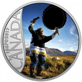 2017 Canadian $10 Celebrating Canada's 150th: Drum Dancing - 1/2 oz Fine Silver Coin