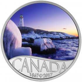 2017 Canadian $10 Celebrating Canada's 150th: Lighthouse at Peggy's Cove - 1/2 oz Fine Silver Coin