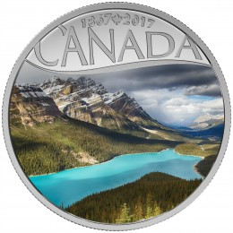 2017 Canadian $10 Celebrating Canada's 150th: Peyto Lake - 1/2 oz Fine Silver Coin