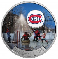 2017 Fine Silver 10 Dollar Coin - Passion to Play: Montreal Canadiens