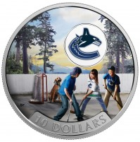 2017 Fine Silver 10 Dollar Coin - Passion to Play: Vancouver Canucks
