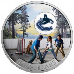 2017 Canadian $10 Passion to Play: Vancouver Canucks - 1/2 oz Fine Silver Coin