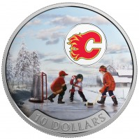 2017 Fine Silver 10 Dollar Coin - Passion to Play: Calgary Flames
