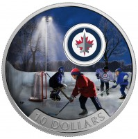 2017 Fine Silver 10 Dollar Coin - Passion to Play: Winnipeg Jets
