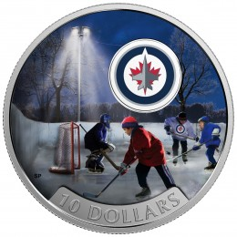 2017 Canadian $10 Passion to Play: Winnipeg Jets - 1/2 oz Fine Silver Coin