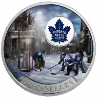 2017 Fine Silver 10 Dollar Coin - Passion to Play: Toronto Maple Leafs