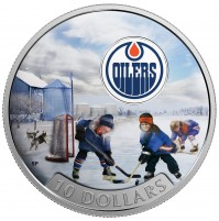 2017 Fine Silver 10 Dollar Coin - Passion to Play: Edmonton Oilers