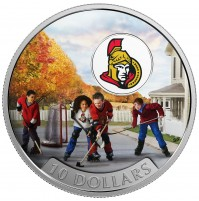2017 Fine Silver 10 Dollar Coin - Passion to Play: Ottawa Senators