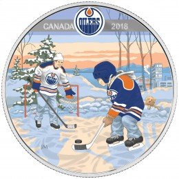 2018 Canadian $10 Learning to Play: Edmonton Oilers - Fine Silver Coin