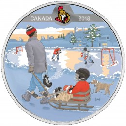 2018 Canadian $10 Learning to Play: Ottawa Senators - Fine Silver Coin
