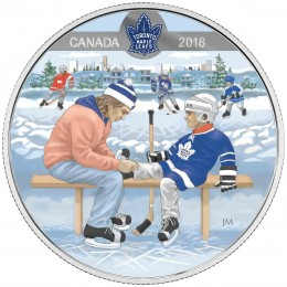 2018 Canadian $10 Learning to Play: Toronto Maple Leafs - Fine Silver Coin