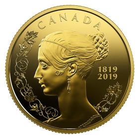 2019 (1819-) Canadian $10 200th Anniversary of the Birth of Queen Victoria - Pure Gold Coin