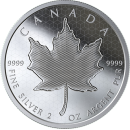 2020 Canadian $10 Pulsating Maple Leaf - 2 oz Fine Silver Coin