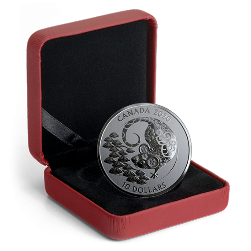 2020 Canadian 10 Year Of The Rat 1 2 Oz Fine Silver Coin