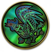 2005 Gold 150 Dollar Hologram Coin - Year of the Rooster