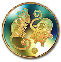 2008 Gold 150 Dollar Hologram Coin - Year of the Rat