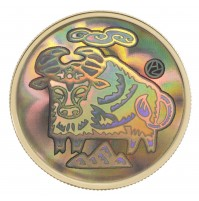 2009 Gold 150 Dollar Hologram Coin - Year of the Ox